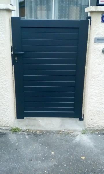 portillon aluminum apres remplacement